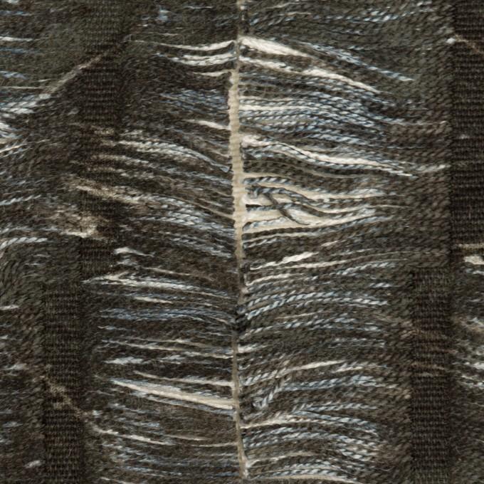 コットン&レーヨン×ストライプ(チャコール&エクリュ)×ジャガード イメージ1