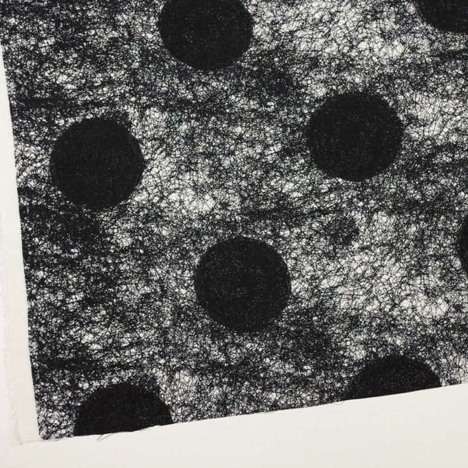 コットン&レーヨン×ペイント(ブルーブラック)×サージ イメージ2