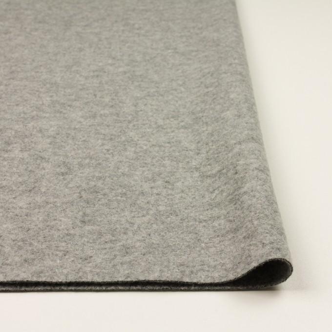 ウール&ナイロン×無地(グレー)×圧縮ループニット イメージ3