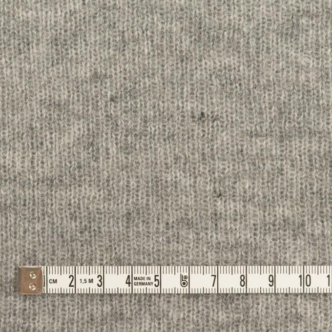 コットン&ウール混×無地(グレー)×Wニット イメージ4