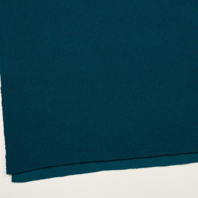 ウール&コットン混×無地(ターコイズブルー)×Wニット イメージ2
