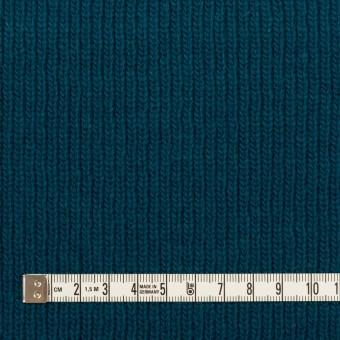ウール&コットン混×無地(ターコイズブルー)×Wニット サムネイル4