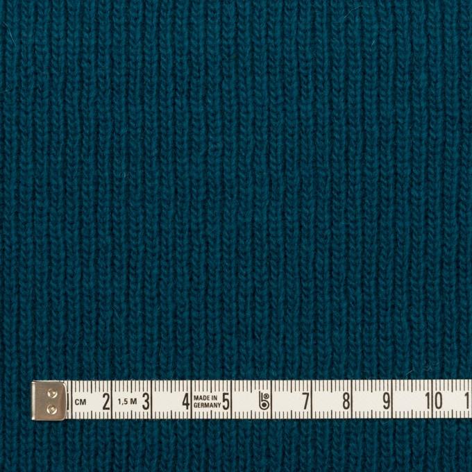 ウール&コットン混×無地(ターコイズブルー)×Wニット イメージ4