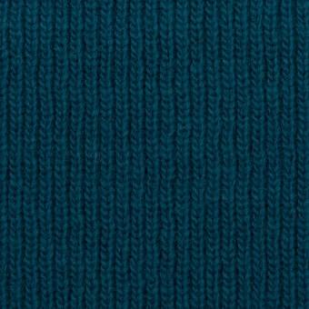 ウール&コットン混×無地(ターコイズブルー)×Wニット