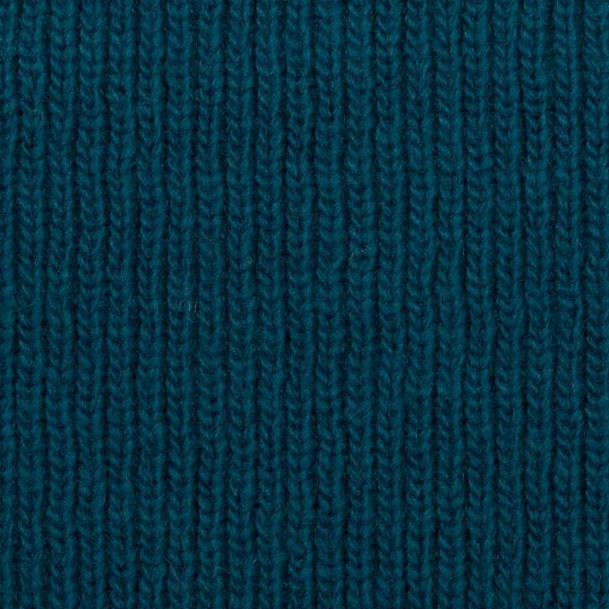 ウール&コットン混×無地(ターコイズブルー)×Wニット イメージ1