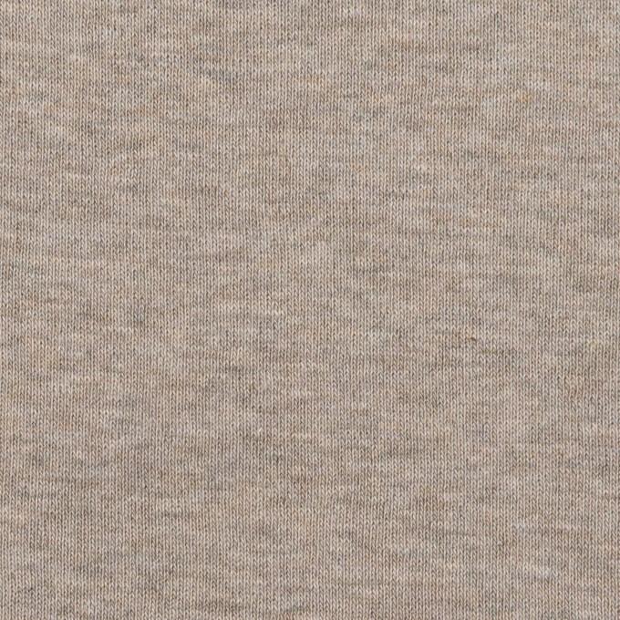 コットン×無地(オートミール)×フライスニット_全3色 イメージ1
