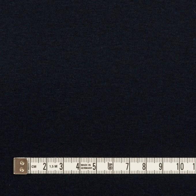 コットン×無地(ダークネイビー)×フライスニット イメージ4