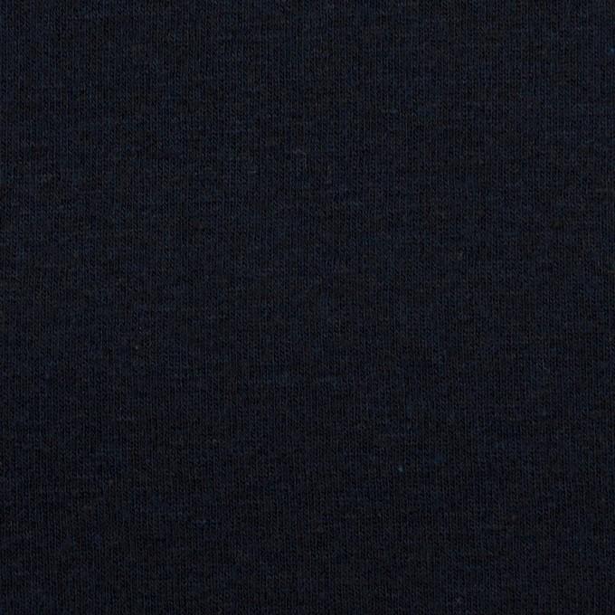 コットン×無地(ダークネイビー)×フライスニット イメージ1