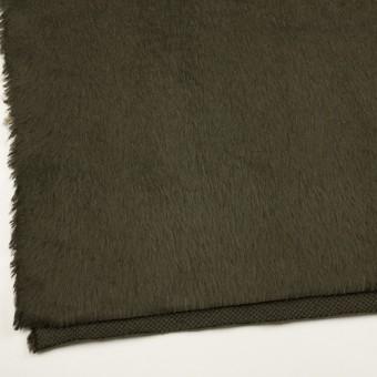 ポリエステル&アクリル混×無地(カーキグリーン)×フリースニット_全3色_イタリア製 サムネイル2