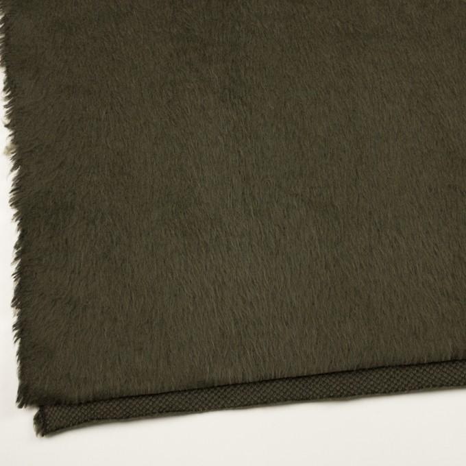 ポリエステル&アクリル混×無地(カーキグリーン)×フリースニット_全3色_イタリア製 イメージ2