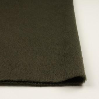 ポリエステル&アクリル混×無地(カーキグリーン)×フリースニット_全3色_イタリア製 サムネイル3