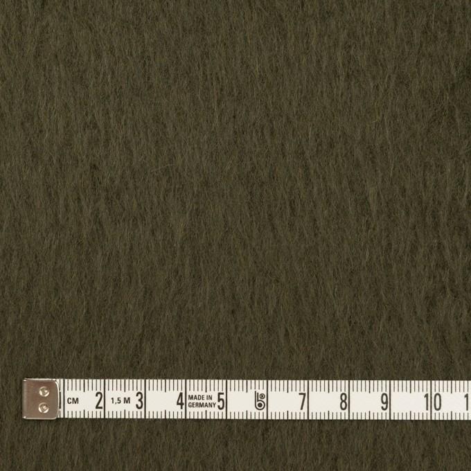 ポリエステル&アクリル混×無地(カーキグリーン)×フリースニット_全3色_イタリア製 イメージ4
