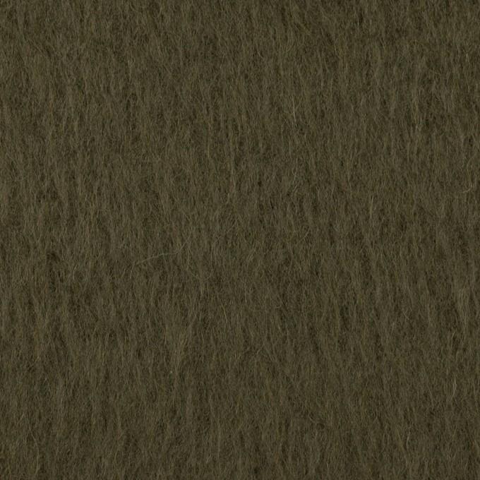 ポリエステル&アクリル混×無地(カーキグリーン)×フリースニット_全3色_イタリア製 イメージ1