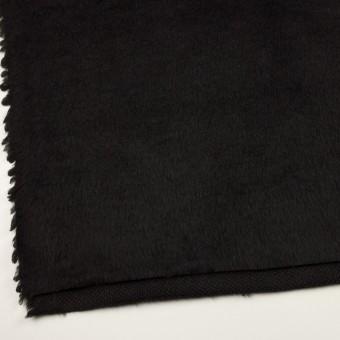 ポリエステル&アクリル混×無地(ブラック)×フリースニット_全3色_イタリア製 サムネイル2