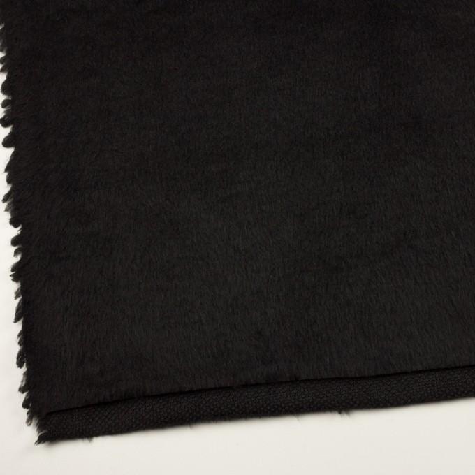 ポリエステル&アクリル混×無地(ブラック)×フリースニット_全3色_イタリア製 イメージ2
