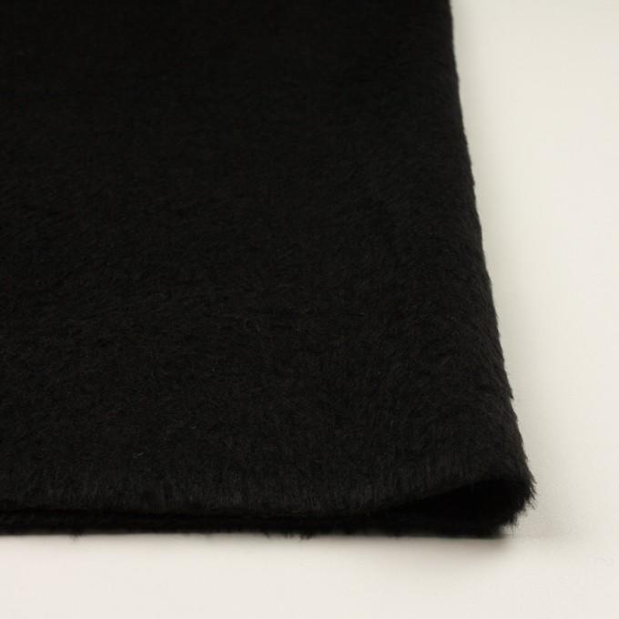 ポリエステル&アクリル混×無地(ブラック)×フリースニット_全3色_イタリア製 イメージ3