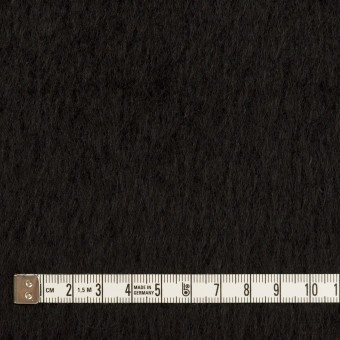ポリエステル&アクリル混×無地(ブラック)×フリースニット_全3色_イタリア製 サムネイル4