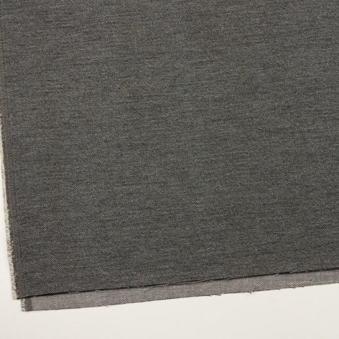 コットン&ウール混×無地(グレー)×かわり織&ヘリンボーン_全2色 イメージ2