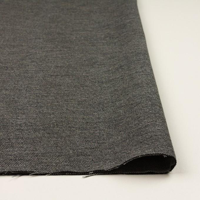 コットン&ウール混×無地(グレー)×かわり織&ヘリンボーン_全2色 イメージ3