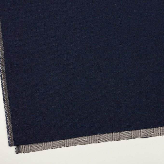 コットン&ウール混×無地(ネイビー)×かわり織&ヘリンボーン_全2色 イメージ2