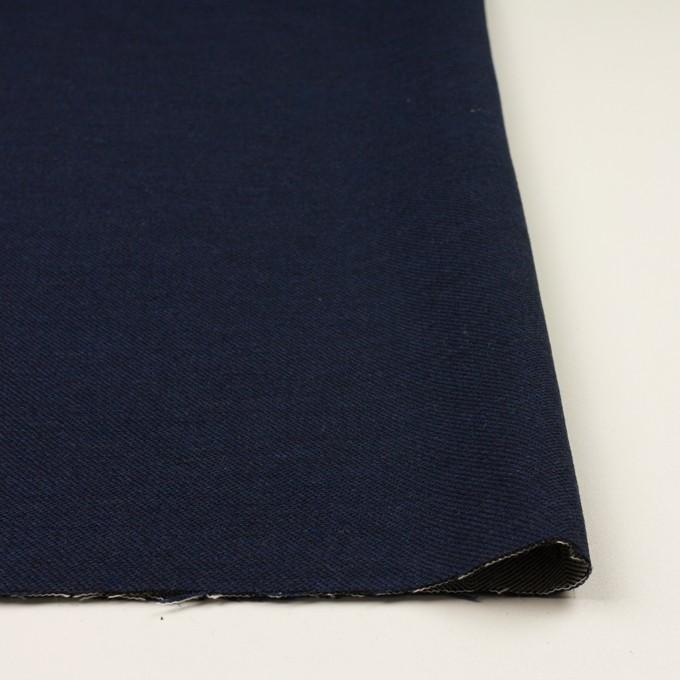 コットン&ウール混×無地(ネイビー)×かわり織&ヘリンボーン_全2色 イメージ3