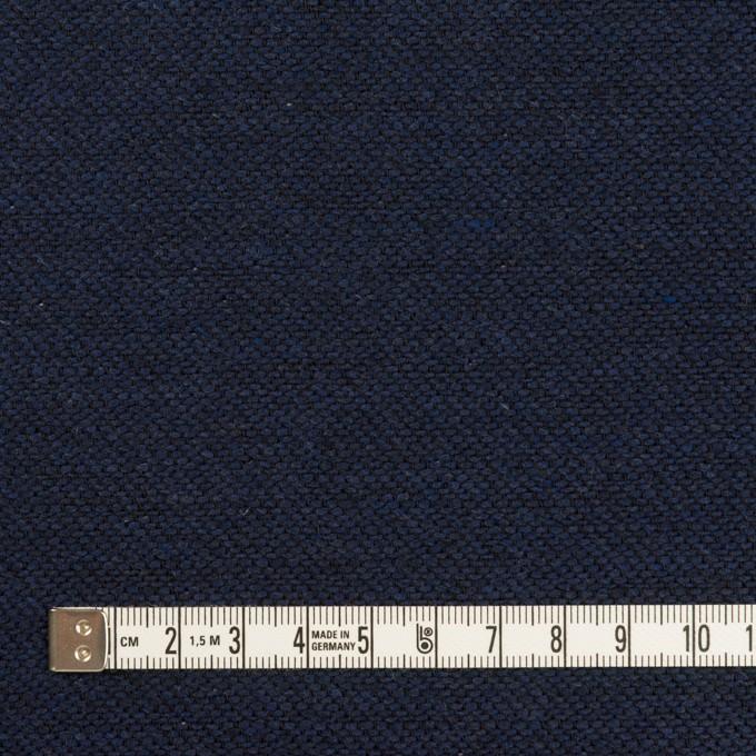 コットン&ウール混×無地(ネイビー)×かわり織&ヘリンボーン_全2色 イメージ4