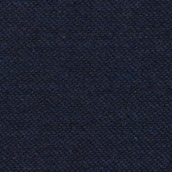 コットン&ウール混×無地(ネイビー)×かわり織&ヘリンボーン_全2色