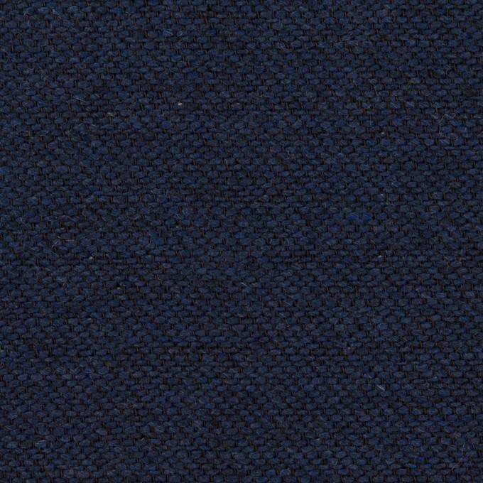 コットン&ウール混×無地(ネイビー)×かわり織&ヘリンボーン_全2色 イメージ1