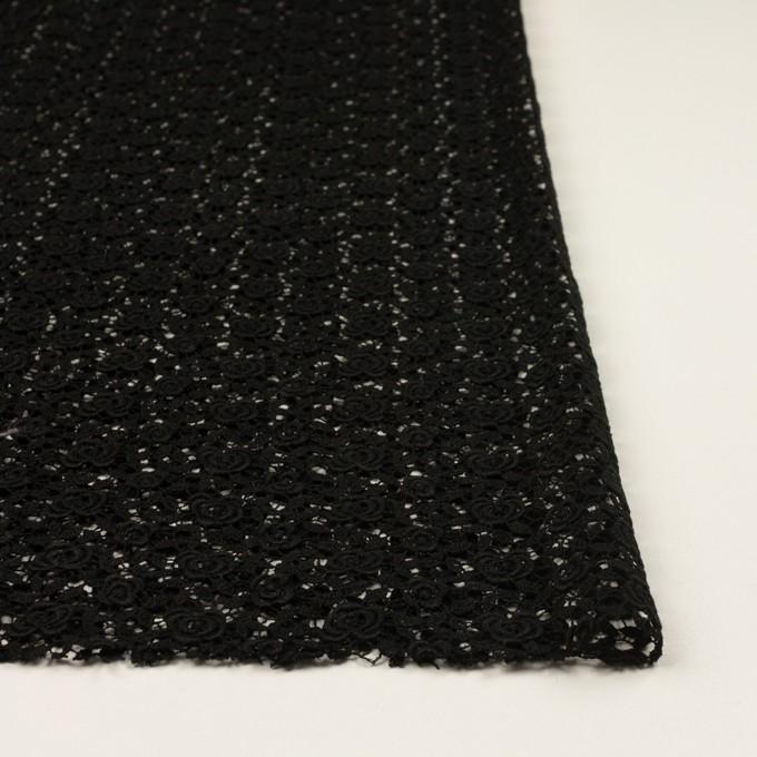 コットン×フラワー(ブラック)×ケミカルレース イメージ3