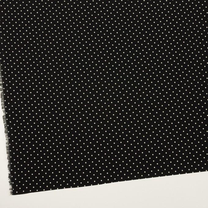 ポリエステル×ドット(ブラック&エクリュ)×ローン イメージ2