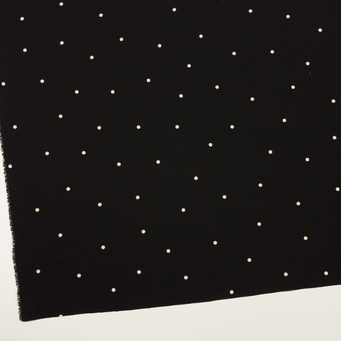 ポリエステル×ドット(ブラック&エクリュ)×ジョーゼット イメージ2