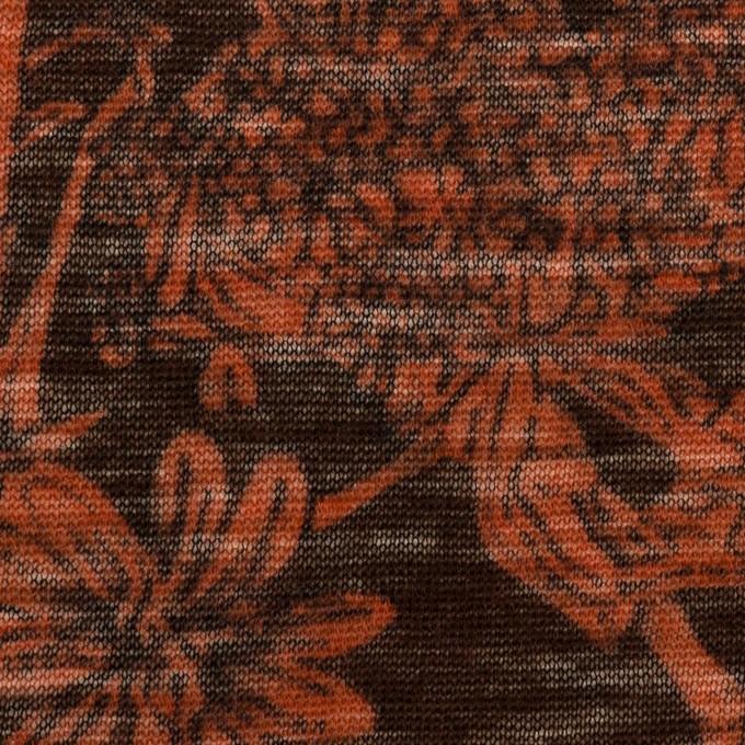 ウール×フラワー(レンガ)×天竺ニット イメージ1