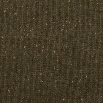 ウール&シルク混×無地(ダークカーキ)×天竺ニット