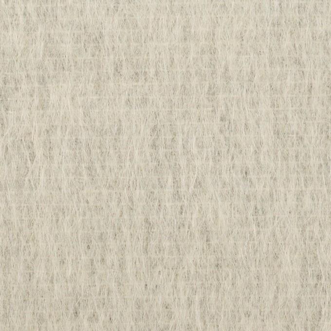 ウール&モヘア混×無地(シルバーグレー)×シャギー イメージ1