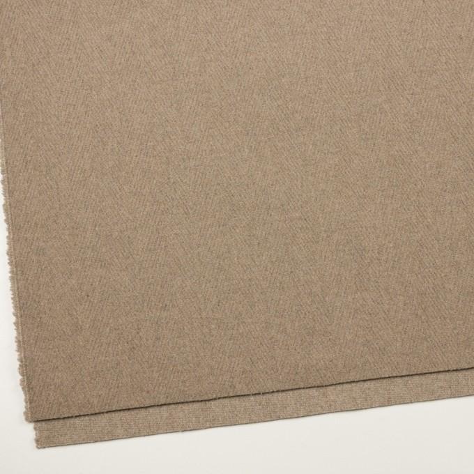 ウール&ナイロン×無地(ビスケット)×二重織_イタリア製 イメージ2
