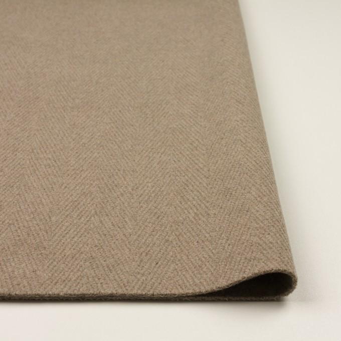 ウール&ナイロン×無地(ビスケット)×二重織_イタリア製 イメージ3