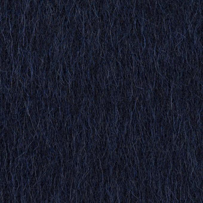 ウール&アルパカ×無地(ネイビー)×シャギー イメージ1