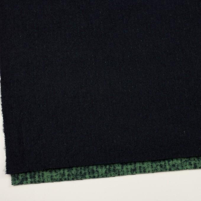 ウール×無地(ダークネイビー)×二重織 イメージ2