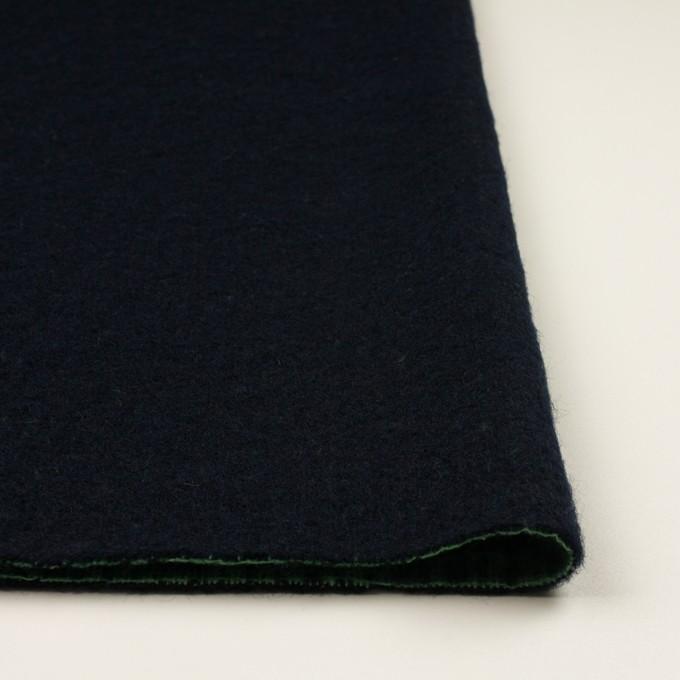 ウール×無地(ダークネイビー)×二重織 イメージ3