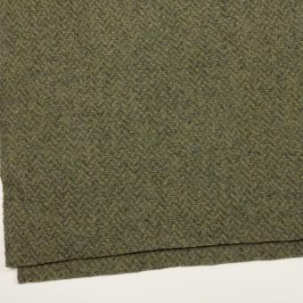 ウール×ミックス(アイビーグリーン&グレー)×かわり織 サムネイル2