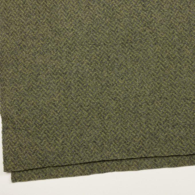 ウール×ミックス(アイビーグリーン&グレー)×かわり織 イメージ2