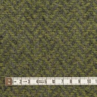 ウール×ミックス(アイビーグリーン&グレー)×かわり織 サムネイル4