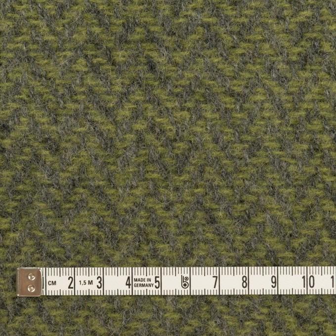ウール×ミックス(アイビーグリーン&グレー)×かわり織 イメージ4
