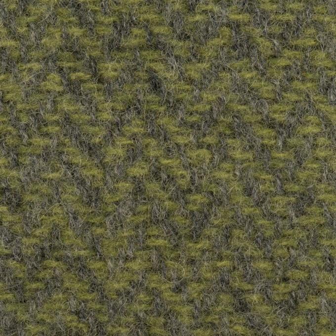 ウール×ミックス(アイビーグリーン&グレー)×かわり織 イメージ1