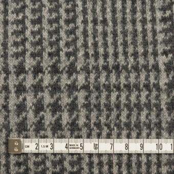 ウール&アクリル混×チェック(グレー&チャコールグレー)×Wニット サムネイル4