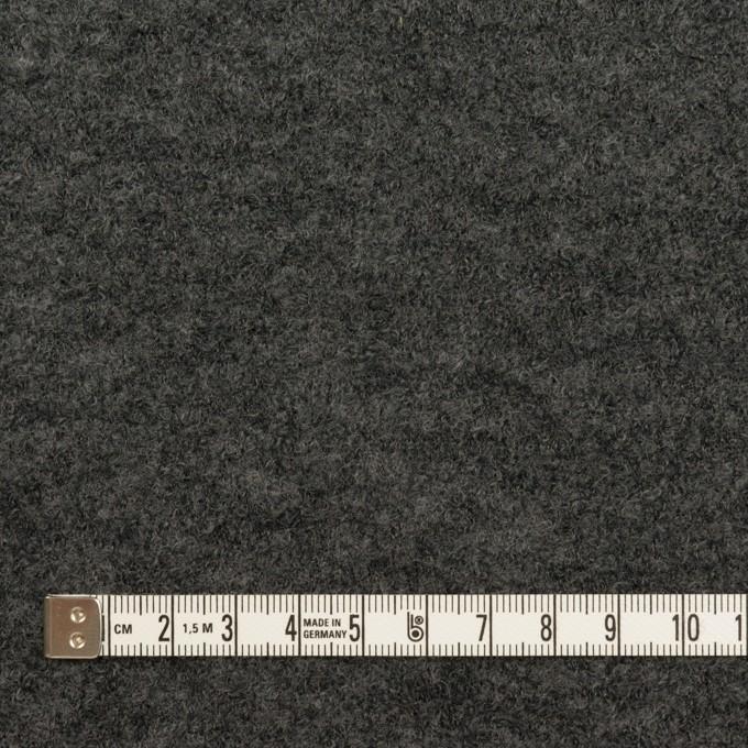 ウール&アクリル混×チェック(グレー&チャコールグレー)×Wニット イメージ6