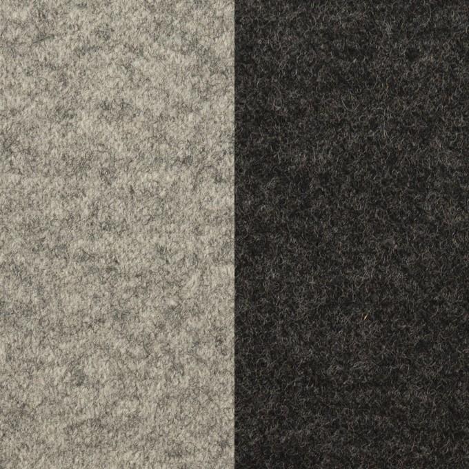 ウール×無地(グレー&チャコール)×圧縮ニット(Wフェイス) イメージ1