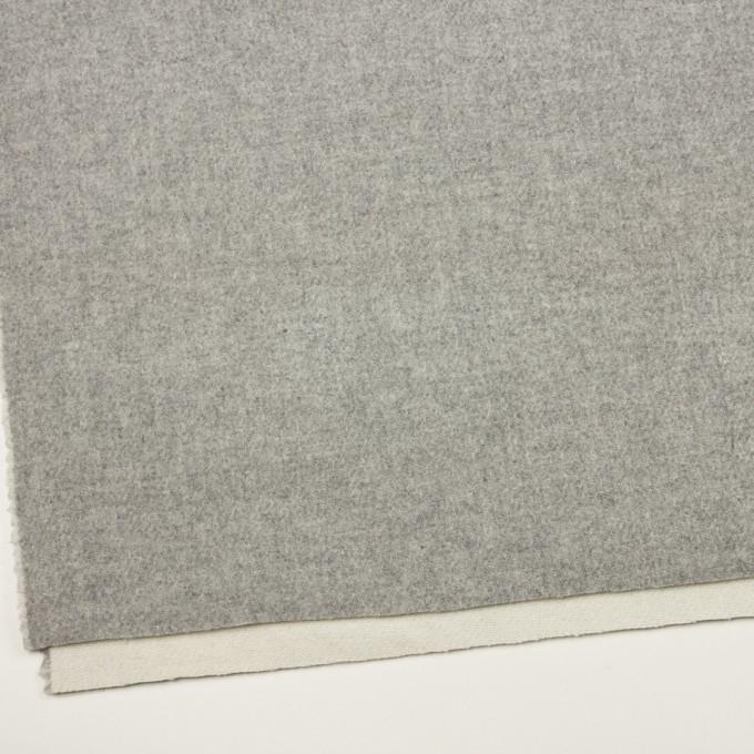 ウール×無地(ライトグレー&ミルク)×かわり織(Wフェイス) イメージ2
