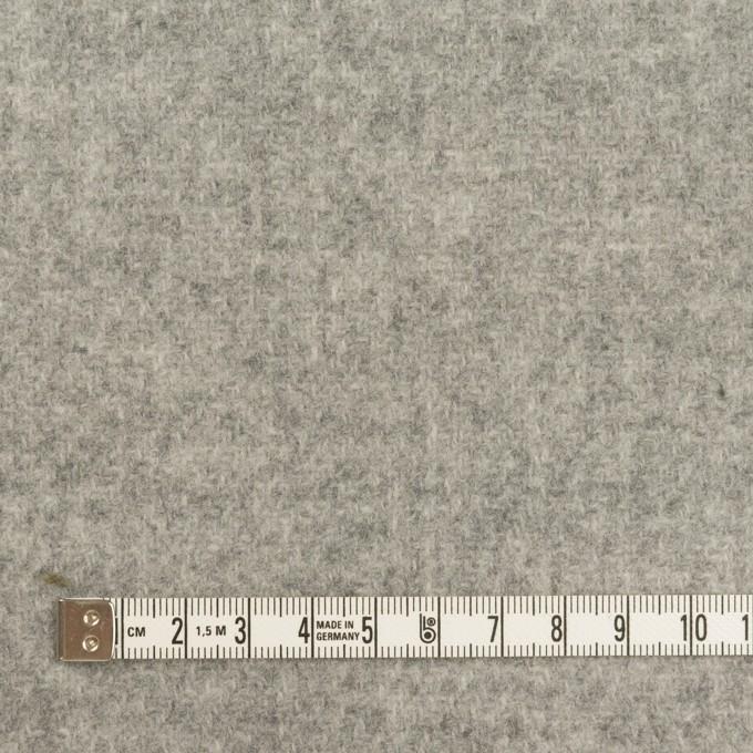 ウール×無地(ライトグレー&ミルク)×かわり織(Wフェイス) イメージ4
