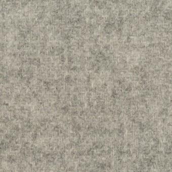 ウール×無地(ライトグレー&ミルク)×かわり織(Wフェイス)